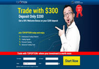 Open a new account at TopOption Binary Trader